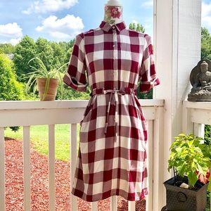 ASOS Plaid Collared Dress